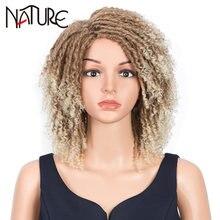 Натуральный Мягкий короткий парик Боб для косплея афро кудрявые