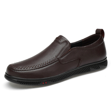 Men Leather Flats Shoes Fashion Comfortable Man Casual Shoes Slip on Male Outdoor Walking Shoes Split Leather Driving Shoe %2103 fashion men loafer shoes slip on male casual flat walking shoes trend lightweight comfortable sneakers man flats