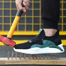 Livraison Directe Hommes femmes chaussures de Travail Chaussures de Sécurité à Embout En Acier Bottes norme Européenne anti-smash anti-crevaison chaussures de sport Chaussures De Sécurité