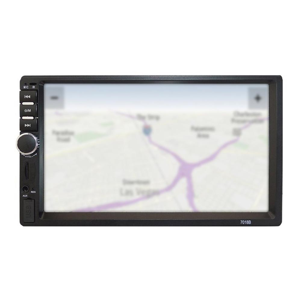 7 Inch Double 7018B 2 DIN Car FM Stereo Radio MP5 Player TouchScreen Multimedia Player 4 Light Camera