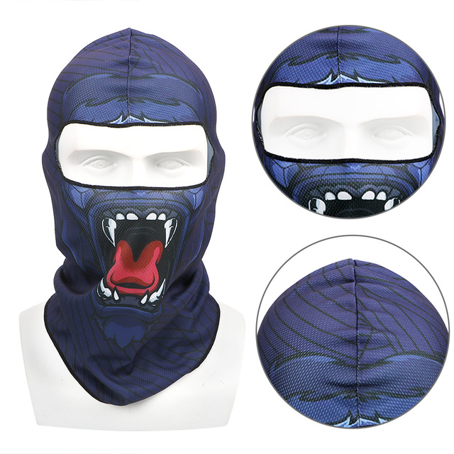 Full Face and Neck Coverage Windproof Sun-protection Dust Protection Motocycle Mask Unisex Balaclava 3D Animal Summer Breathable 2
