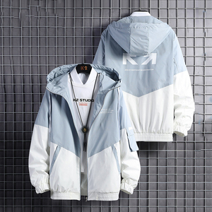 2020 spring and autumn clothes Men Jacket Size 3XL Outwear Hooded Coat Slim Parka men's hooded fashion printed jacket