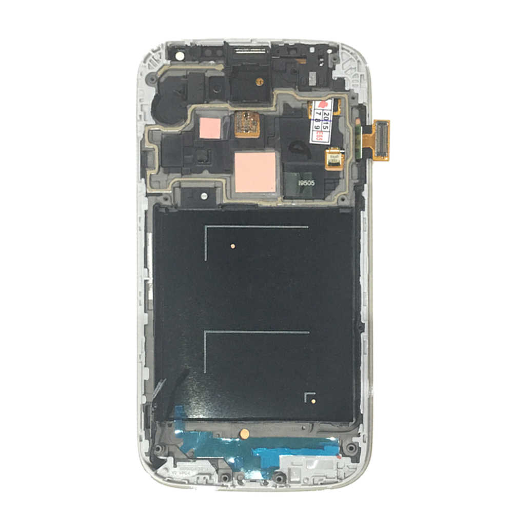 FIX2SAILING جديد سوبر AMOLED شاشة الكريستال السائل 100% اختبار شاشة تعمل باللمس الجمعية الإطار لسامسونج غالاكسي S4 I9500 I9505
