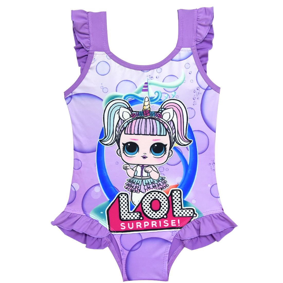 CHILDREN'S Swimsuit 2019 New Style GIRL'S One-piece Swimsuit Child Bathing Suit One-piece Beach Hot Springs 7959
