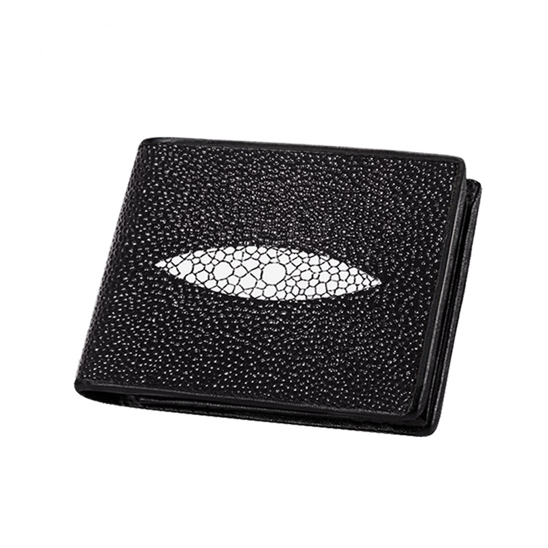 Men Leather Bifold Wallet Male Classic Short Wallets Faux Stingray Pattern Zip Coin Bag Bill Money Credit Card Holder ID Window
