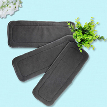 Baby Care Diapers bamboo charcoal fiber diapers Reusable Washable Comfortable Infant Nappy 4 Layers Inserts Cloth
