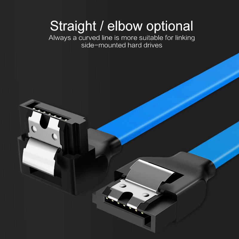 HDD Cable For SATA Cable 3.0 To Hard Disk SSD Adapter Straight 90 Degree Sata 3.0 Cable For Asus MSI Gigabyte Motherboard