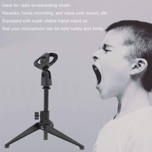 Image 4 - Mini Tragbare Tisch Tops Mikrofon Stehen Zink Legierung Metall Stativ Mic Stand Halterung Unterstützung Desktop Einstellbar Für mikrofon