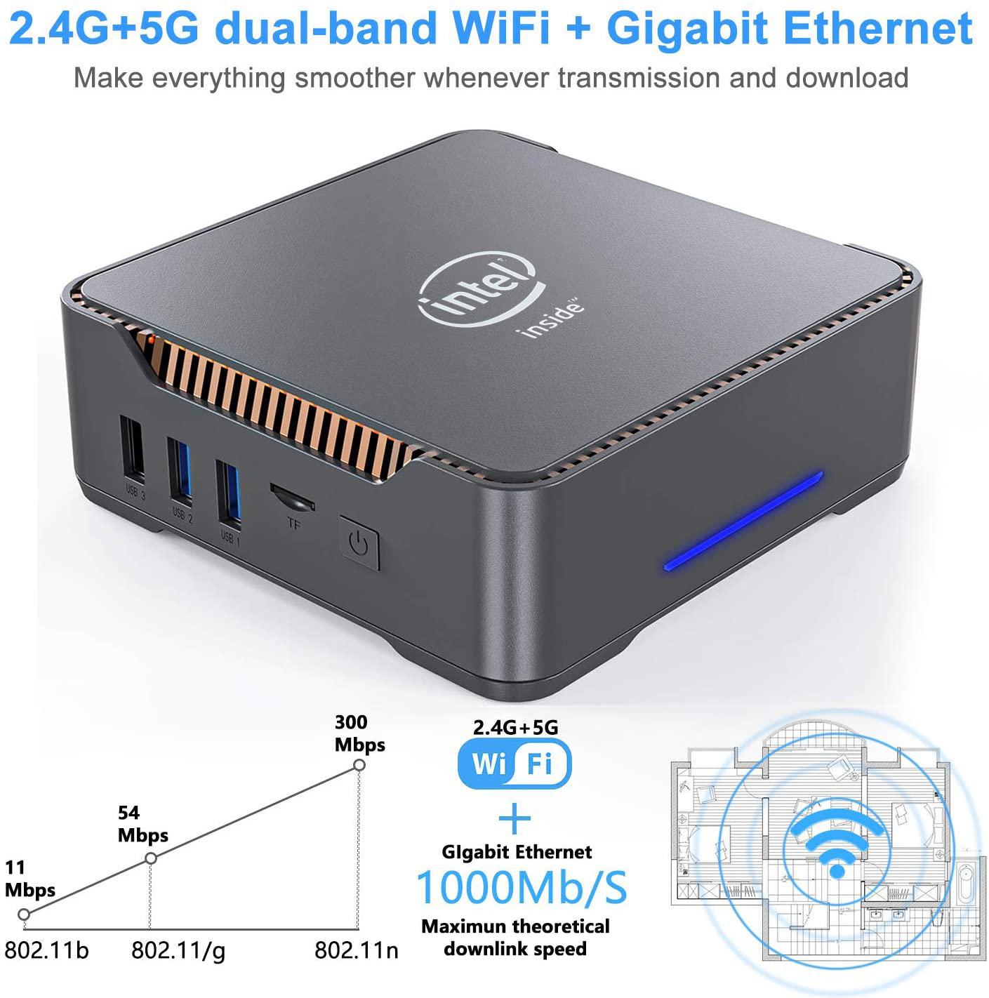 Мини-ПК CHUWI Herobox, Windows 10, Intel Gemini-Lake N4100, 4 ядра, LPDDR4, 8 Гб ОЗУ, 256 ГБ SSD | Компьютеры и офис | АлиЭкспресс