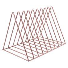 Домашний офис металлическая железная стойка для хранения настольная книга журнал Органайзер держатель для книжных полок современное художественное геометрическое украшение