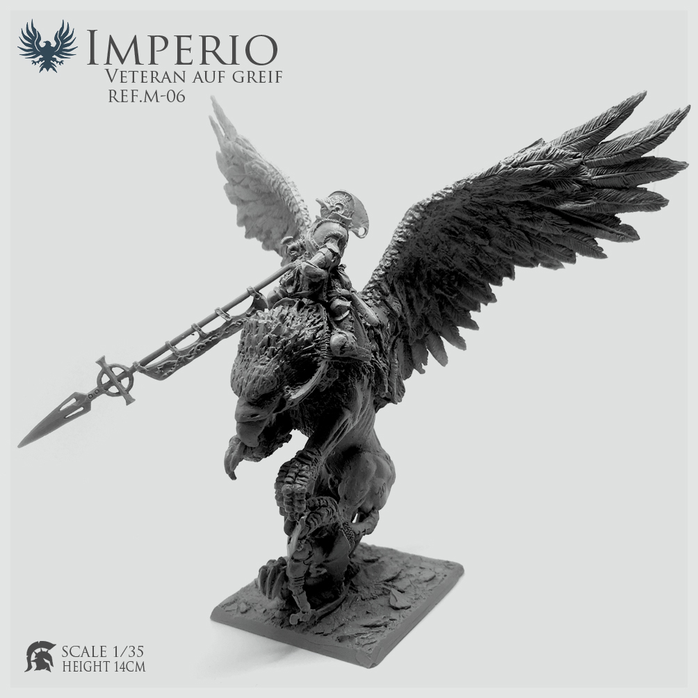 Resin Figure Gamezone Griffin Knight Height14cm  Unmounted (not For Beginners) REF.M-06