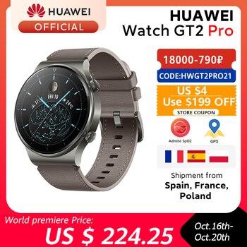En stock versión Global HUAWEI Watch GT 2 pro SmartWatch 14 días batería de vida GPS carga inalámbrica Kirin A1 GT2 Pro
