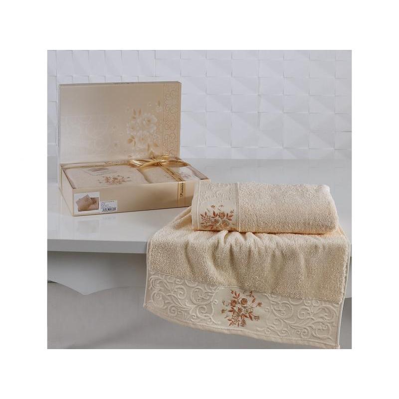 Towel Set KARNA, VIOLA, apricot, 2 Subject towel set karna bale dark yellow 4 subject