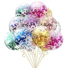 Праздничные и все для праздника шары прозрачные блестки на день рождения воздушные шары balony palloncini Свадебный шар 100 шт./лот