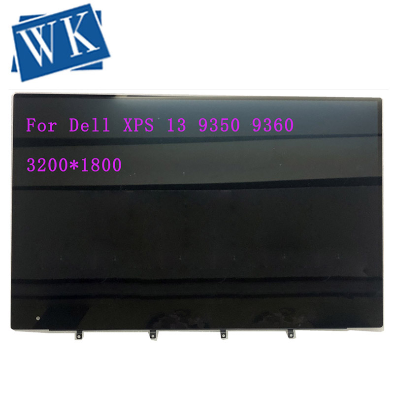13.3'' QHD Laptop Display LCD Touch Screen Assembly Replacement For Dell XPS 13 9350 9360 LQ133Z1JW21 0RXN49 3200*1800
