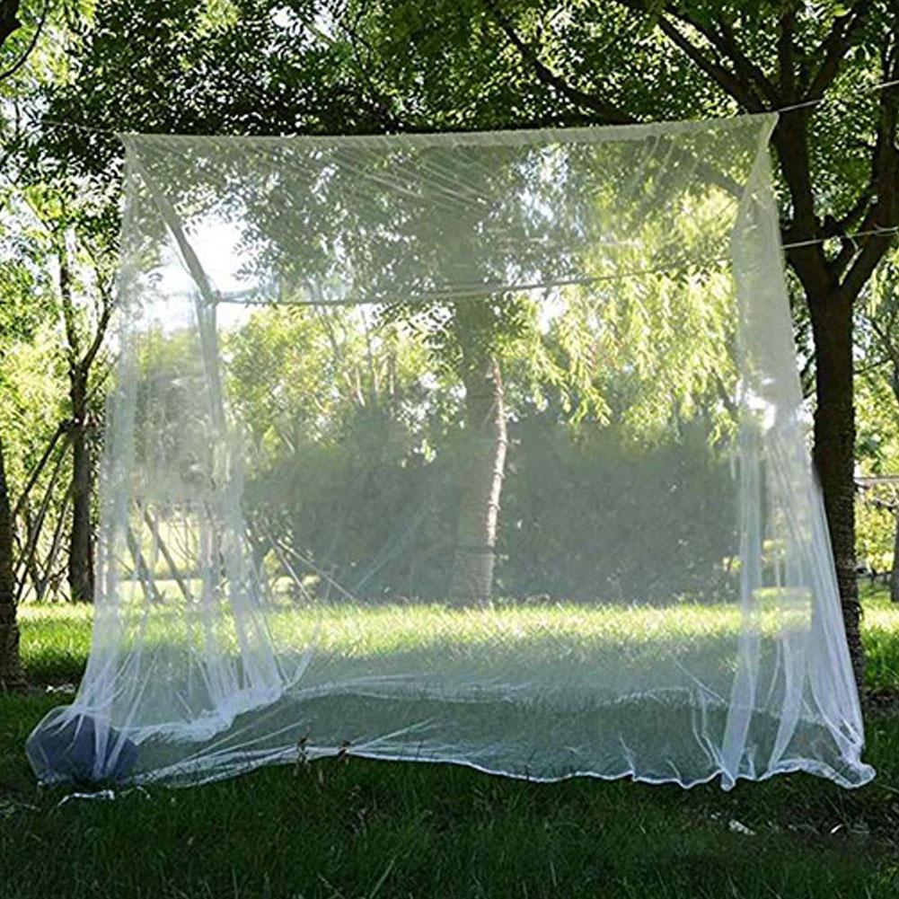 Outdoor Camping Mosquito Net Double Camping Bed Compact And Lightweight Square Outdoor Net For Camping Fishing Hiking