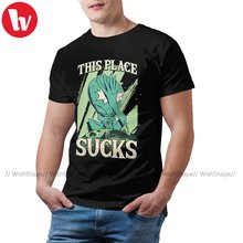 Alien Tshirt Graphic 100 Percent Cotton T Shirt Short-Sleeve Basic Cute Tee Shirt Male Plus Size 5XL