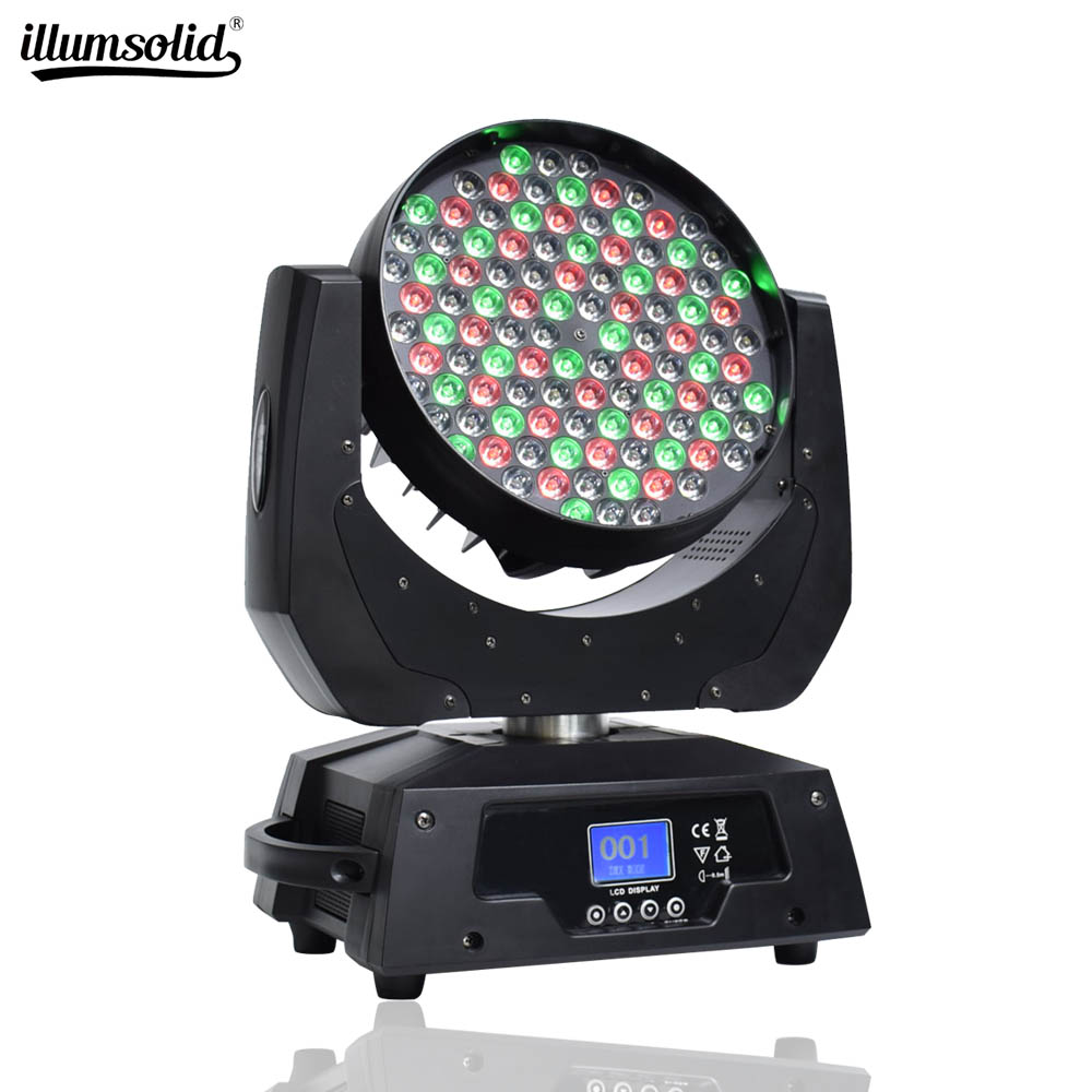 108x3W Moving Head Lights 4in1 DMX-512 Stage Lighting Sound Activated Spotlight RGBW For Party KTV Pub Bar Disco Dj Show Wedding