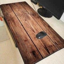 Mairuige Mode Braun Holzmaserung Laptop Gaming Große Locking Rand Mousepad GROßE GRÖßE Gummi Spiel Maus Pad für CSGO DOTA gamer