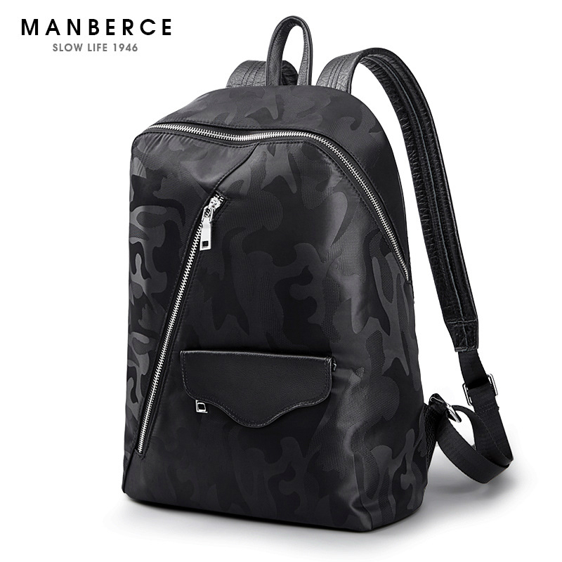 MANBERCE 2019 New Camouflage Shoulder Bag Men 39 s Simple Fashion Trend Light Travel Leisure Young Men 39 s Backpack Free Shipping in Backpacks from Luggage amp Bags