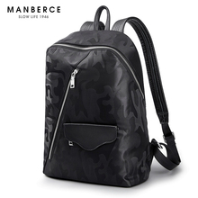 MANBERCE 2019 New Camouflage Shoulder Bag Mens Simple Fashion Trend Light Travel Leisure Young Backpack Free Shipping