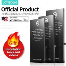цена на Joyroom Battery For iPhone 4 4s 5 5s 5c 5se 6 6s 7 8 Plus Replacement Batterie Original Bateria Phone Battery For iPhone 7 Plus