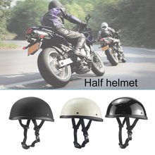 Motorcycle German Half Face Helmet Chopper Cruiser Biker Scooter Half Helmet Skull Cap Hat Chopper Bobber Biker With Scarf new german motorcycle wwii style half helmet chopper biker pilot goggles open face moto motocicleta with free goggle and mask