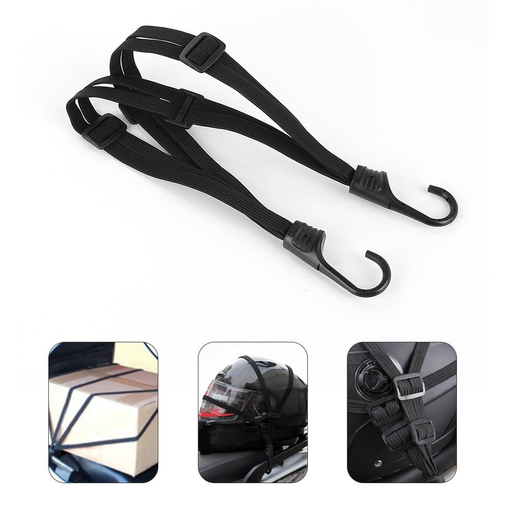 1pc Motorcycle Luggage Helmet Net Rope Belt Bungee Cord Elastic Strap with Hook