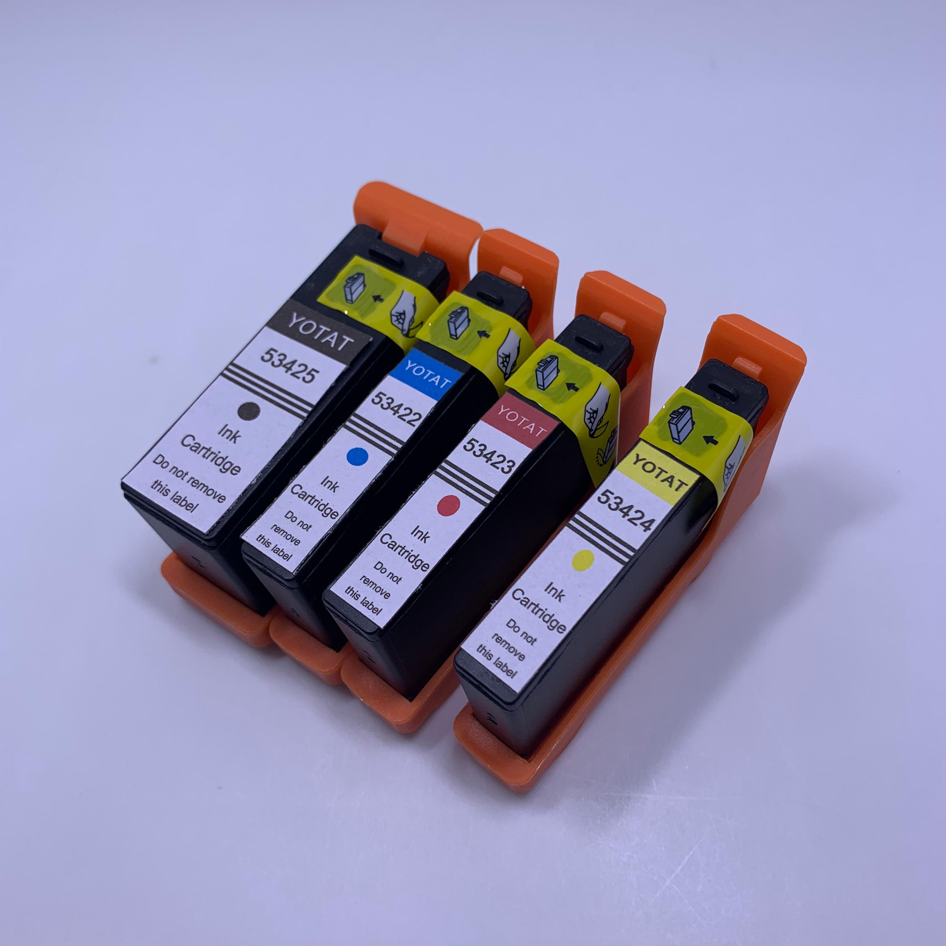 YOTAT 4pcs Compatible For Primera 53425 53422 53423 53424 Ink Cartridge For Primera LX900 Printer