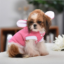 2020 New fashion cotton high grade rabbit cat cartoon lovely pet coat dog clothes