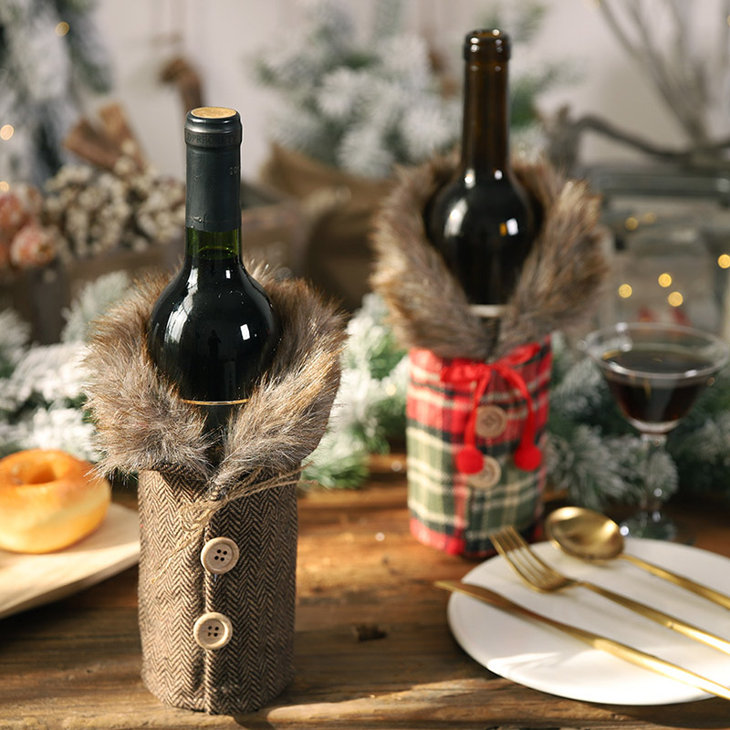 Christmas Red Wine Bottle Covers Bag Santa Snowman Party Ornament Champagne Bottle Covers 2020 Christmas Decor For Home Navidad