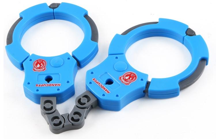 4 шт. классические детские мягкие пулевые игрушки пистолет с пластиковыми наручниками телескоп игрушка-Бейдж пистолет дети лучший подарок