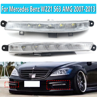 1 Pair For Mercedes Benz W221 S63 AMG 2007 2013 DRL Daytime Running Lights LED Fog Lamps Lights 2218201356 2218201456