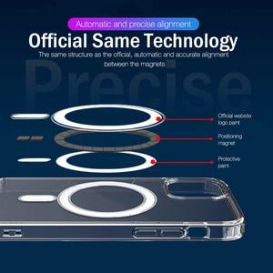 Image 3 - יוקרה מגנטי מקרה עבור iPhone 11 12 פרו מקס מיני XS XR X 10 נייד טלפון כיסוי ברור פגז TPU רך סיליקון עמיד הלם פגוש