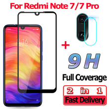 2 in 1 Screen Protector for Xiaomi Redmi Note 7 Pro Tempered Glass 7Pro Camera Lens Protective