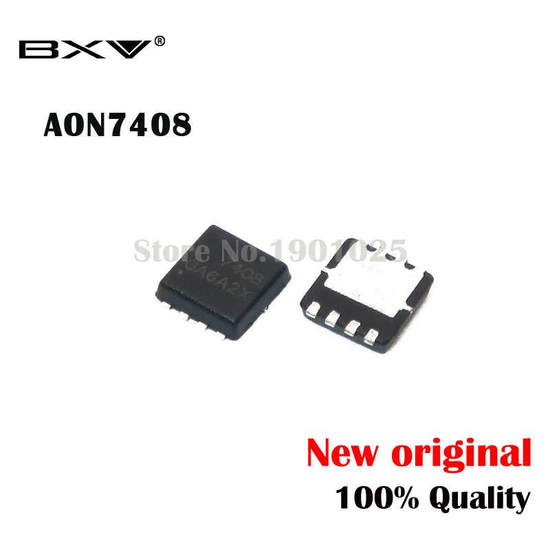 10 stücke AON7408 AO7408 7408 MOSFET QFN-8 neue original