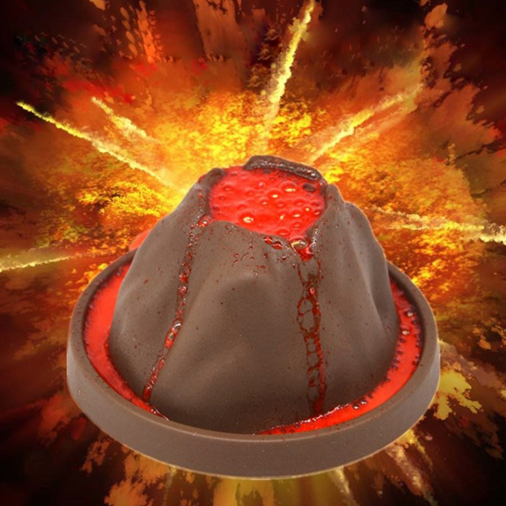 Geographic Learning Toys Educational Physical Erupting Volcano Gift Developmental Discovery Science Kit DIY Kids Experiment