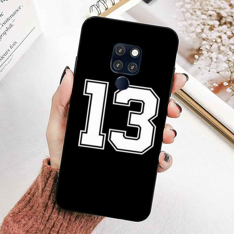 LVTLV black letter and number Cover Black Soft Shell Phone Case for huawei mate 8 S 9 10 lite 10pro 20 X 20pro 20lite case