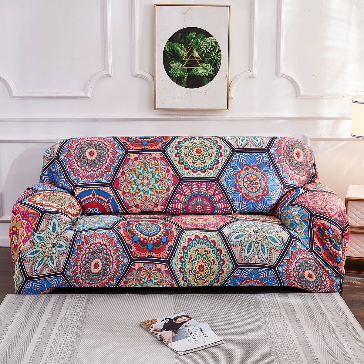 Bohemian Printed Slipcover Spandex Morocco All inclusive Sofa Cover Endurable and Free Wrinkle Jacquard Fabric Couch