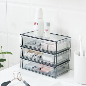 Acrylic Organizer Cosmetic Storage Box Drawer Make Up Organizer For Small Things Jewelry Containers For Desktop Dresser Bathroom