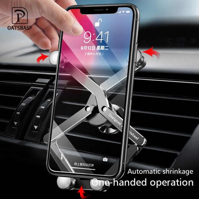 Yerçekimi braketi deforme araba telefon tutucu evrensel araba yerçekimi tutucu cep telefon standı iPhone Xr Xs Max Xiaomi Huawei