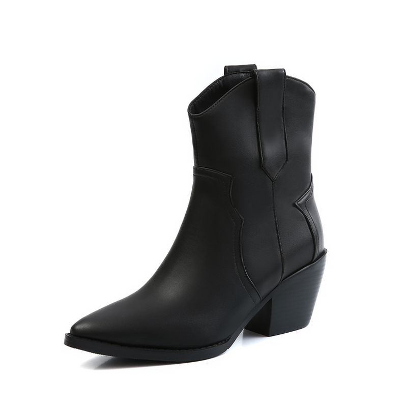 2019 bout pointu Western Cowgirl bottes Chelsea bottines chaussures femmes cosaques Cowboy bottes compensées Femal chaussures Botas Mujer33-45