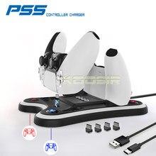 Najnowszy kontroler bezprzewodowy PS5 USB podwójna szybka podstawka ładująca stacja dokująca do Sony Playstation 5 oryginalny Joystick Gamepad