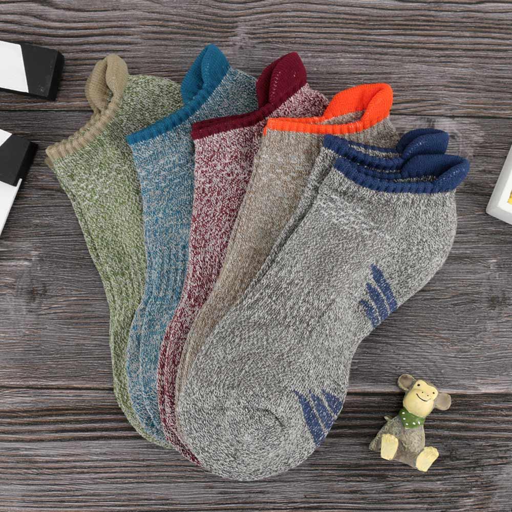 1 Pair Man's Towel Bottom Cotton Short Basketball Socks Colorful Casual Adult Warm Outdoors Run Tennis Sport Socks