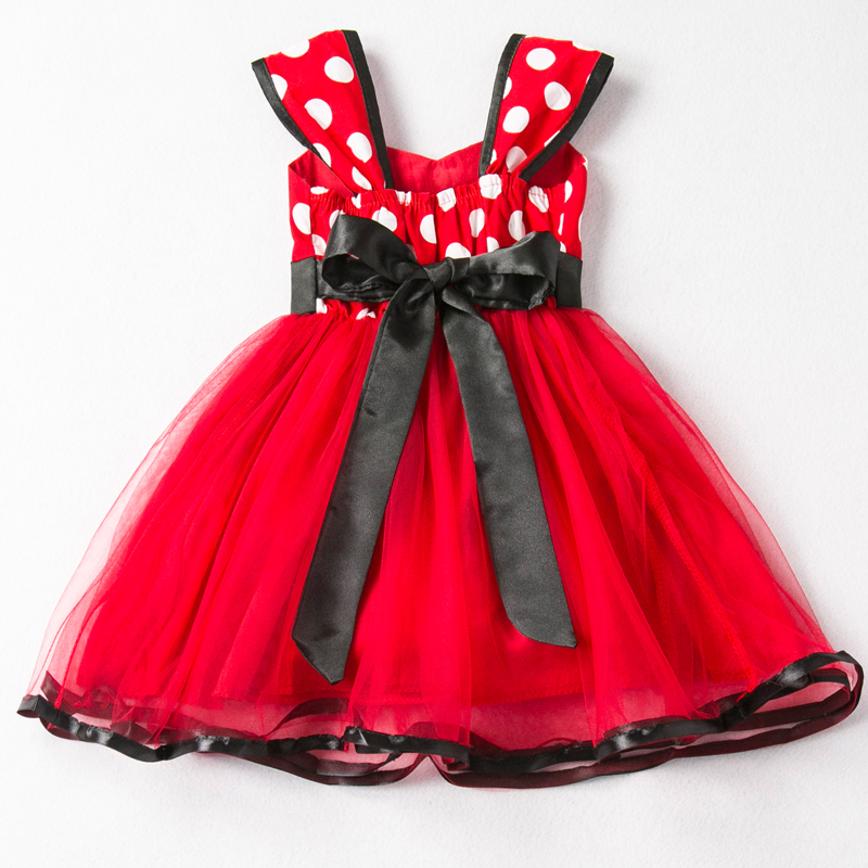 Girls Mouse Dress Gift Polka Dots Party Costume Baby Girl Winter Snowman Red New Year Girl Christmas Dress Girl 5Y 2