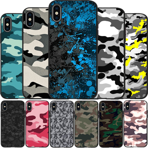 Camouflage Pattern Camo military Army Soft Silicone TPU black Phone Case For iPhone 5 5S SE 6 7 8 plus X XS XR XS Max 11 Pro Max(China)