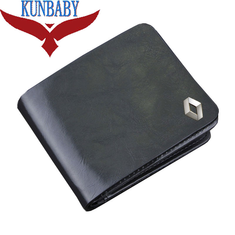 Top Quality Genuine Leather Black Car Logo Document Bag Wallet Card Package For Renault Car Styling Car Accessories KUNBABY