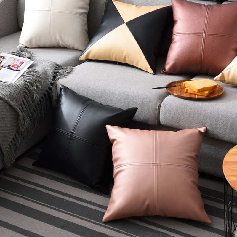 45x45cm Pu Soft Leather Pillow Cover