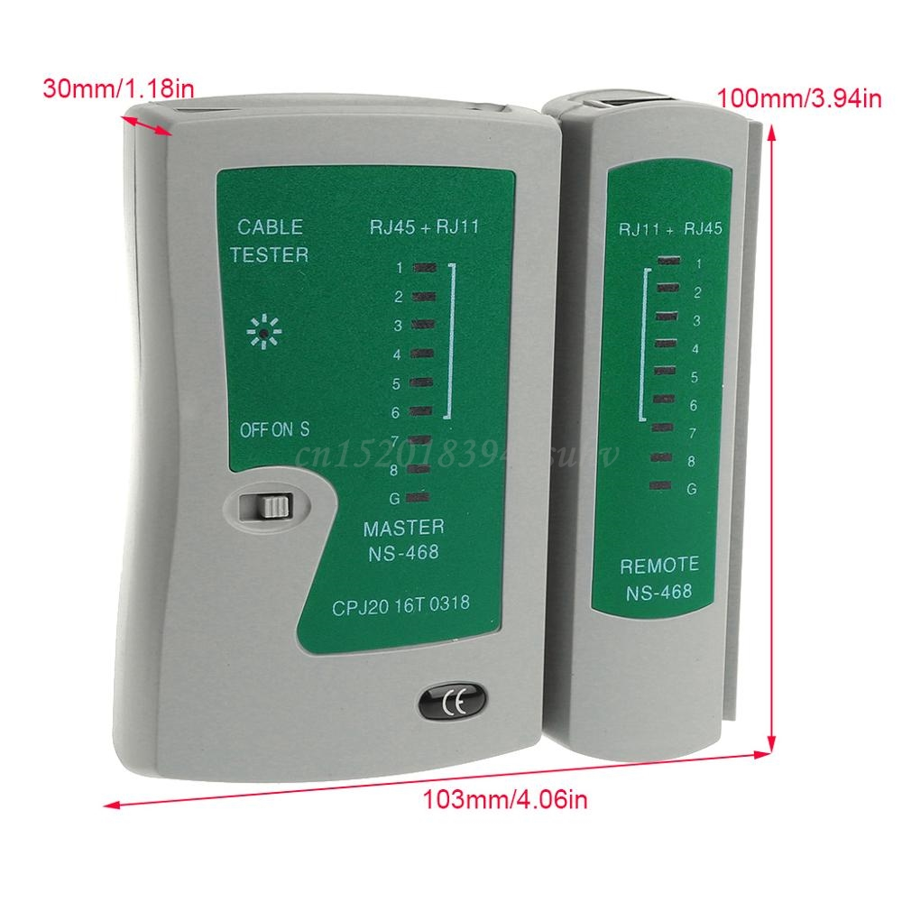 Professional Networking Testing RJ45 RJ11 CAT5 UTP LAN Cable Network Tester Tool - L059 New hot 6