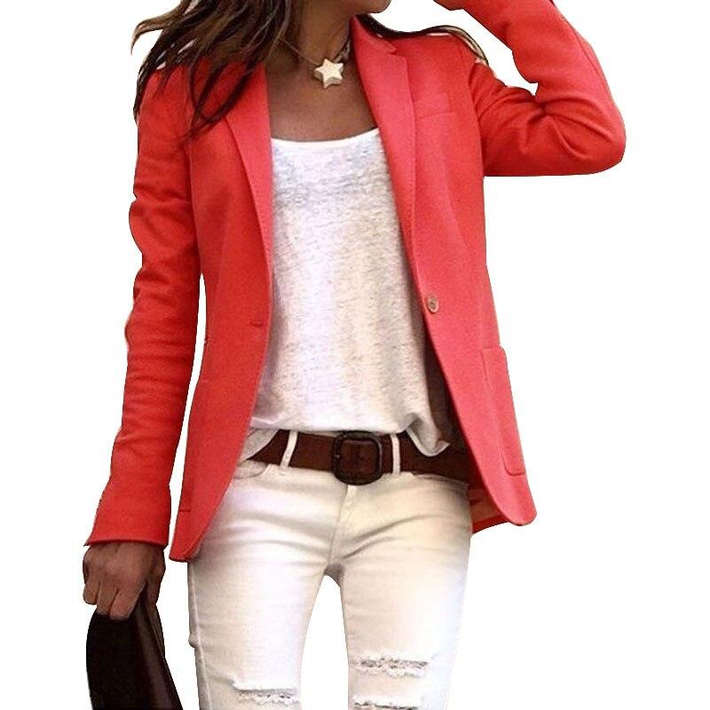 Элегантное деловое пальто для женщин и девушек, приталенный костюм, однотонные куртки с длинными рукавами для весны и лета, ty66